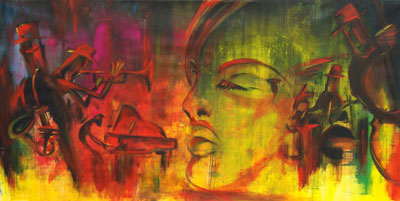 All that jazz - Contemporary Art Painting - Florin Coman