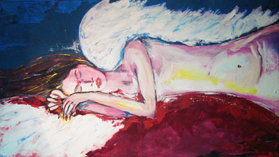 Angel Dream - Contemporary Art Painting - Florin Coman