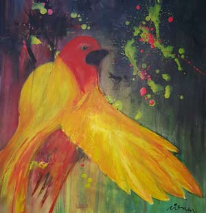 Bird - Contemporary Art Painting - Florin Coman