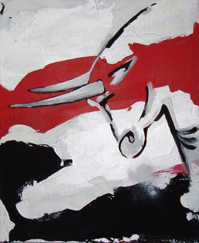 Bull - Contemporary Art Painting - Florin Coman
