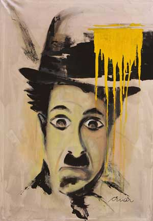 Charlie Chaplin Portrait 3 - Contemporary Art Painting - Florin Coman
