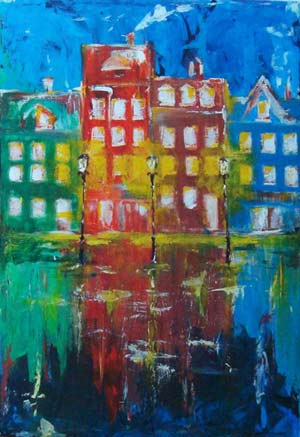 Colour Houses - Contemporary Art Painting - Florin Coman