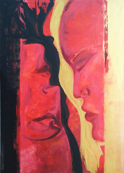 Face 2 Face - Contemporary Art Painting - Florin Coman