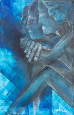 Feeling blue - Contemporary Art Painting - Florin Coman