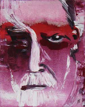 Portrait Sigmund Freud - Contemporary Art Painting - Florin Coman