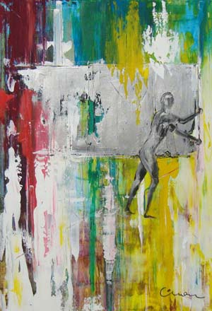 Gerhard Richter Tribute - 1 - Contemporary Art Painting - Florin Coman