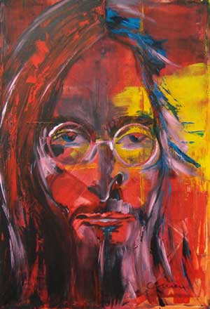 Imagine God.John Lennon - Contemporary Art Painting - Florin Coman