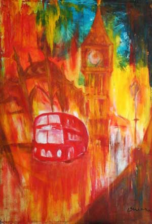 London Colours - Contemporary Art Painting - Florin Coman