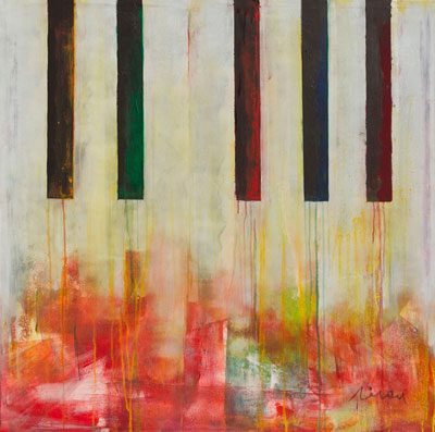 Piano - Contemporary Art Painting - Florin Coman