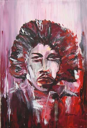 Purple Haze.Jimi Hendrix - Contemporary Art Painting - Florin Coman