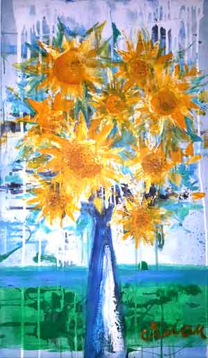 Sun flowers - Contemporary Art Painting - Florin Coman