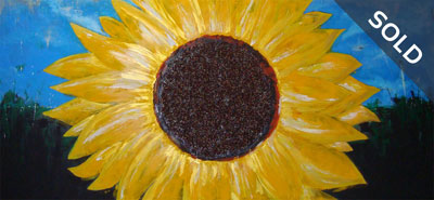 Sunflower - Contemporary Art Painting - Florin Coman