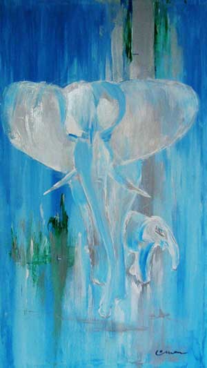 White Elephant - Contemporary Art Painting - Florin Coman