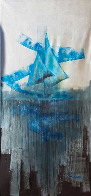 Wild sea - Contemporary Art Painting - Florin Coman
